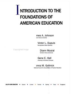 Introduction to the Foundations of American Education PDF