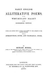 Early English Alliterative Poems: In the West-Midland Dialect of the Fourteenth Century
