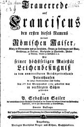 Trauerrede auf Franciscus I. Röm. Kais