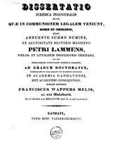 De iis, quae in communionem legalem veniunt, bonis et oneribus