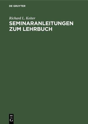 Seminaranleitungen zum Lehrbuch PDF