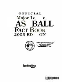 Official Major League Baseball Fact Book  2003 Edition PDF