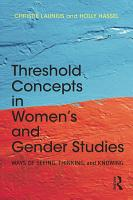 Threshold Concepts in Women   s and Gender Studies PDF