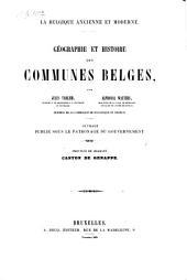Geographie et histoire des communes Belges: Province de Brabant. Arrondissement de Nivelles, Volume1