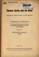 Thomas Hardy und die Bibel PDF