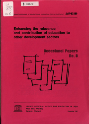 Enhancing The Relevance And Contribution Of Education To Other Development Sectors Book PDF