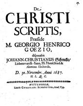 De Christi scriptis