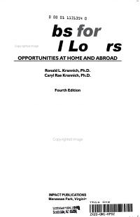 Jobs for Travel Lovers PDF