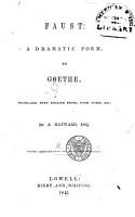 Faust  a Dramatic Poem PDF