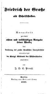 Friedrich der Grosse als Schriftsteller
