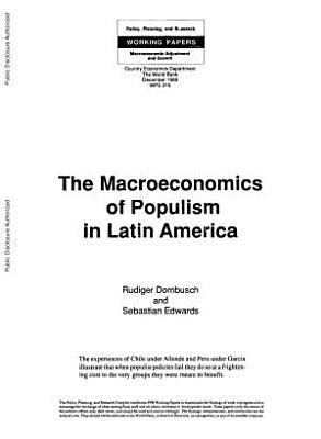 The Macroeconomics of Populism in Latin America PDF