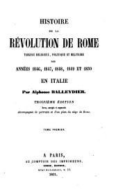 Histoire de la Revolution de Rome