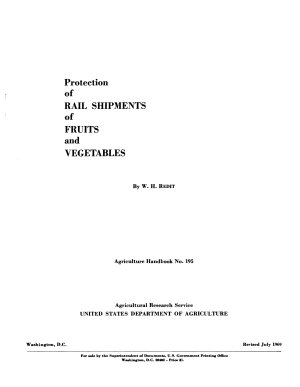 Protection of Rail Shipments of Fruits and Vegetables