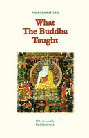 What the Buddha Taught PDF