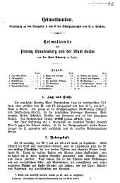 Heimatkunde der Provinz Brandenburg und der Stadt Berlin