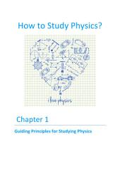 How to Study Physics?: Chapter 1 - Guiding Principles for Studying Physics