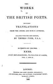 Works of the British Poets: Including Translations from the Greek and Roman Authors ...