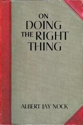 On Doing the Right Thing