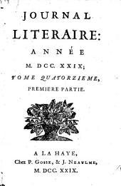 Journal litéraire: Volume14
