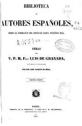 Obras del v.p.m. Fray Luis de Granada: (XXXVI, 739 p.)