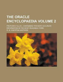 The Oracle Encyclopaedia  Profusely Illus    Containing the Most Accurate Information in the Most Readable Form Volume 2 PDF