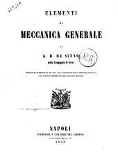 Elementi di meccanica generale di G. B. De Sinno