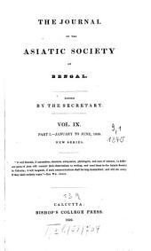 Journal of the Asiatic Society of Bengal: Volume 9, Part 1