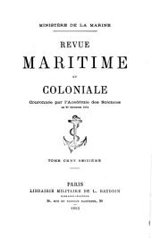 Revue maritime et coloniale: Volume116