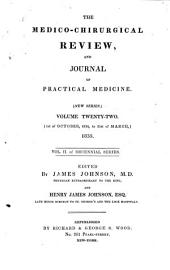 The Medico-chirurgical Review: Volume 26