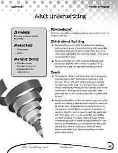 Writing Lesson Level K  Adult Underwriting PDF