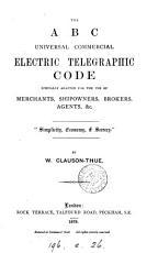 The ABC universal commercial electric telegraphic code PDF