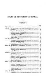 Report on the State of Education in Bengal