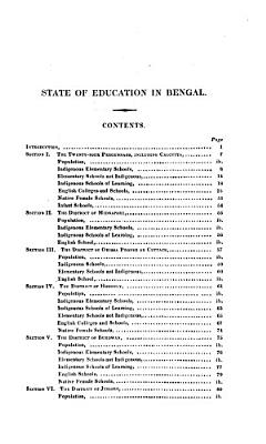 Report on the State of Education in Bengal PDF