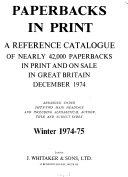 Paperbacks In Print Book PDF