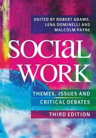 Social Work  Themes  Issues and Critical Debates PDF