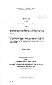 Members of Parliament  Parliaments of Great Britain  1705 1796  Parliaments of the United Kingdom  1801 1874  Parliaments and conventions of the Estates of Scotland  1357 1707  Parliaments of Ireland  1559 1800 PDF
