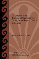 XII Congress of the International Organization for Septuagint and Cognate Studies  Leiden  2004 PDF