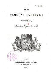 De la commune lyonnaise au Moyen âge