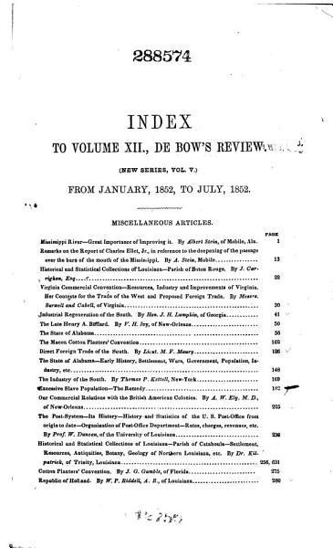 De Bow s Review PDF