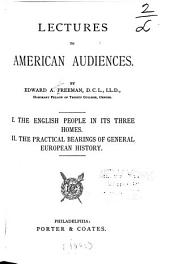 Lectures to American Audiences