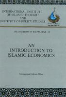 An Introduction to Islamic Economics PDF