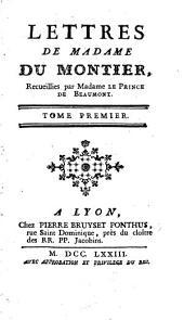 Lettres de Madame Du Montier