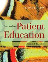 Essentials of Patient Education PDF