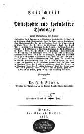 Zeitschrift für Philosophie und spekulative Theologie: Band 8