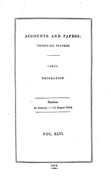 Download Accounts and Papers of the House of Commons Book