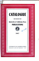Catalogue of the Publications of the University of California Press PDF