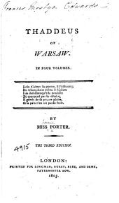 Thaddeus of Warsaw: Volume 1