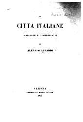 Le Città italiane marinare e commercianti. [Poems.]