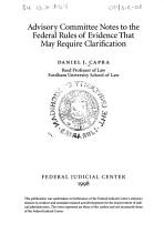Advisory Committee Notes to the Federal Rules of Evidence that May Require Clarification PDF