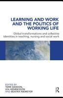 Learning and Work and the Politics of Working Life PDF